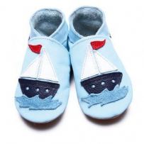 Sail Boat Blue Shoes Baby Gift